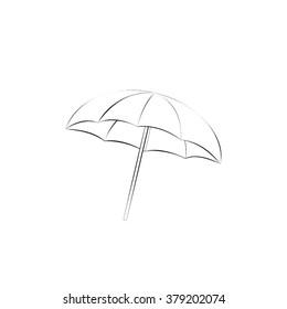 beach umbrella icon vector illustration eps10.