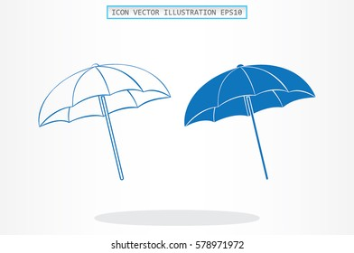 beach umbrella icon vector illustration.