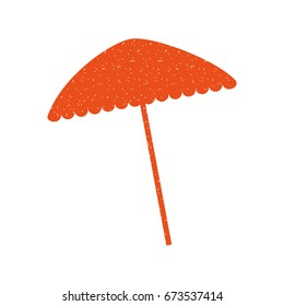 beach umbrella isolated icon