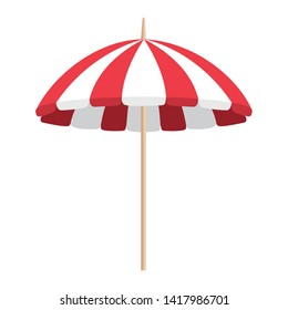 beach umbrella summer isolated icon