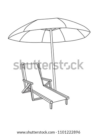 beach umbrella sun lounger icon vector stock vector royalty free African Lion Food Web beach umbrella and sun lounger icon vector solid pictogram isolated on white