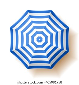 Beach umbrella. Vector illustration.