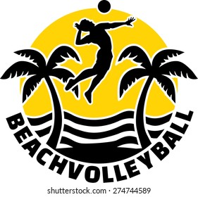 Beach Volleyball Emblem