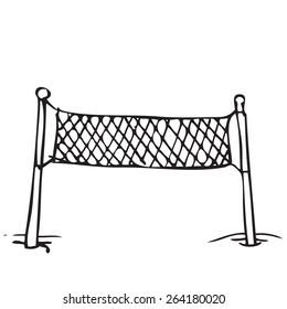 Beach Volleyball Net Doodle