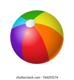 Beachball - modern vector realistic isolated object