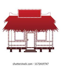 Beack kiosk stand red lines