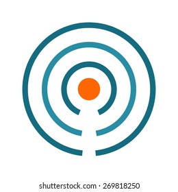 Beacon, signals, internet icon vector image. Can also be used for communication, connection, technology. Suitable for web apps, mobile apps and print media.