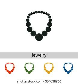 Bead icon, the silhouette. Menu item in the web design