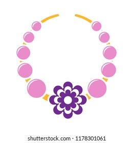 beads icon - vector necklace illustration, jewelry design. fashion symbol