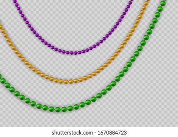 Beads for Mardi Gras. Vector illustration EPS10