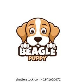 Beagle Cute Cartoon Dog Logo for Pet Shop Pet Care Animal