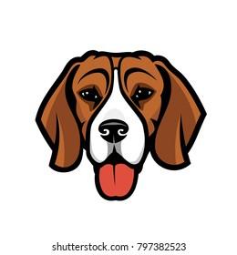 Beagle dog - isolated vector illustration