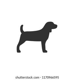 Beagle. monochrome icon