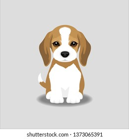 Beagle Puppy Vector Illustration. Dog isolated