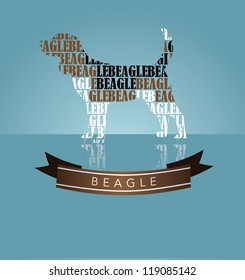 Beagle Silhouette with Banner