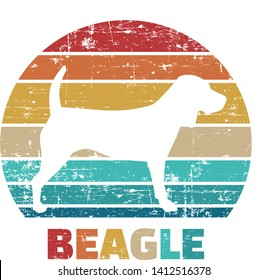 Beagle silhouette vintage and retro