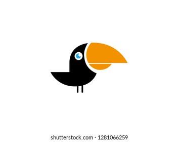 beak toucan blackbird with keel-billed  vector