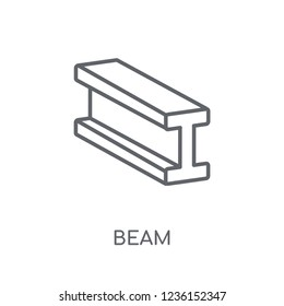 Beam linear icon. Modern outline Beam logo concept on white background from Construction collection. Suitable for use on web apps, mobile apps and print media.