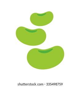 bean logo vector. logo template. soya. mung.