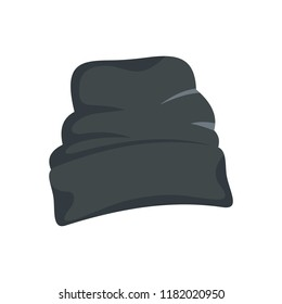 Beanie hat icon. Flat illustration of beanie hat vector icon for web design