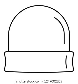 Beanie icon. Outline beanie vector icon for web design isolated on white background