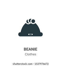 Beanie vector icon on white background. Flat vector beanie icon symbol sign from modern clothes collection for mobile concept and web apps design.