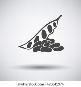 Beans icon on gray background with shadow. Vector illustration.