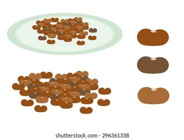 Beans set vector