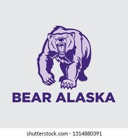 BEAR ALASKA vector logo