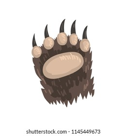 Bear animal paw vector Illustration on a white background