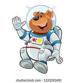 Bear Astronout Happy
