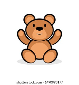 Bear cartoon character design on white background, Vector illustration