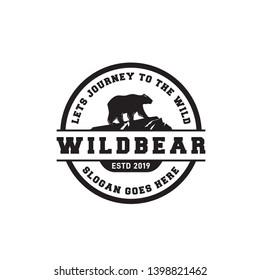 bear emblem badge logo design
