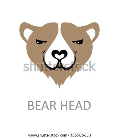 bear face design template stock vector royalty free 355506653