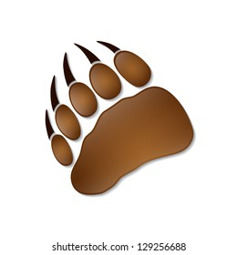 Bear footprint - vector illustration