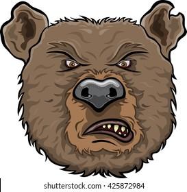 Bear furious face