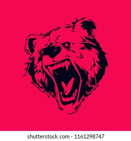 Bear Graphic design for tattoo ink or wall decor sticker