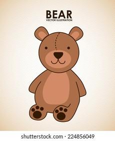 bear graphic design , vector illustration