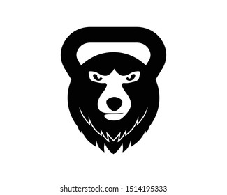 Bear gym fitness and sport mascot
