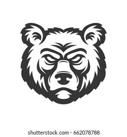 Bear head logo.