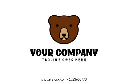 Bear head for logo designs vector editable