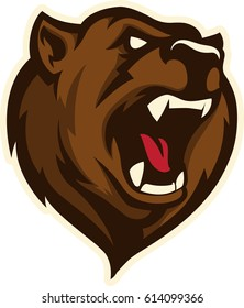 Bear head sports logo mascot