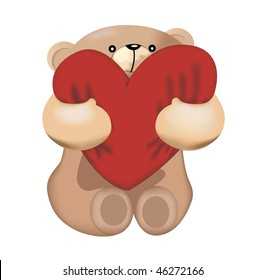 Bear with his big heart.