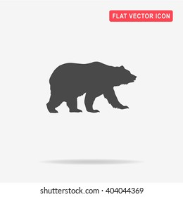 Bear icon. Vector concept illustration for design.