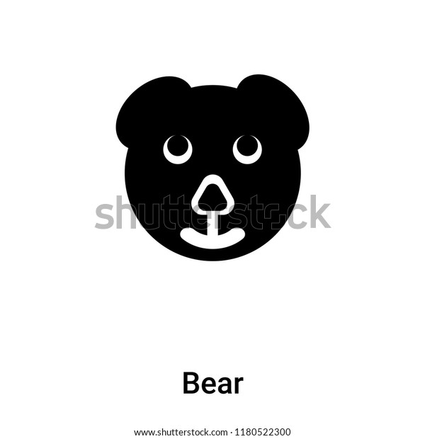 bear icon vector isolated on white stock vector royalty free 1180522300 shutterstock