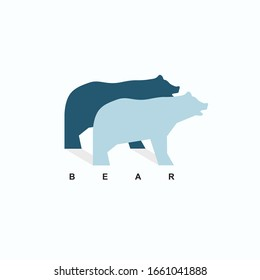 Bear logo design concept for business company