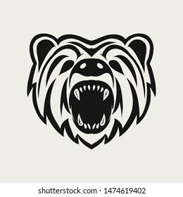 bear Logo Design icon illustration