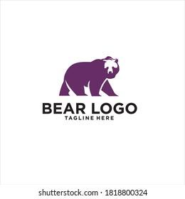 bear logo design icon silhouette vector