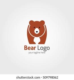Bear Logo Design Template. Vector illustration