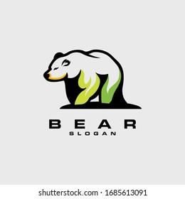 bear logo design vector abstract illustrator